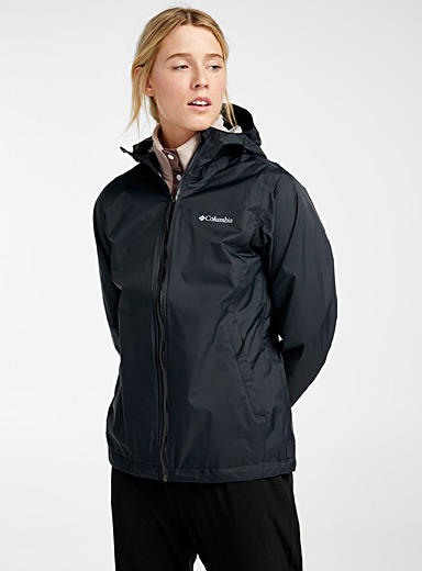 Columbia Black EvaPOURation waterproof jacket for women