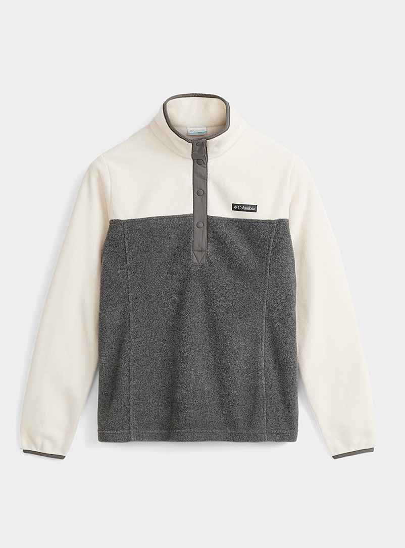 Columbia Dark Grey Monochrome block polar fleece for women