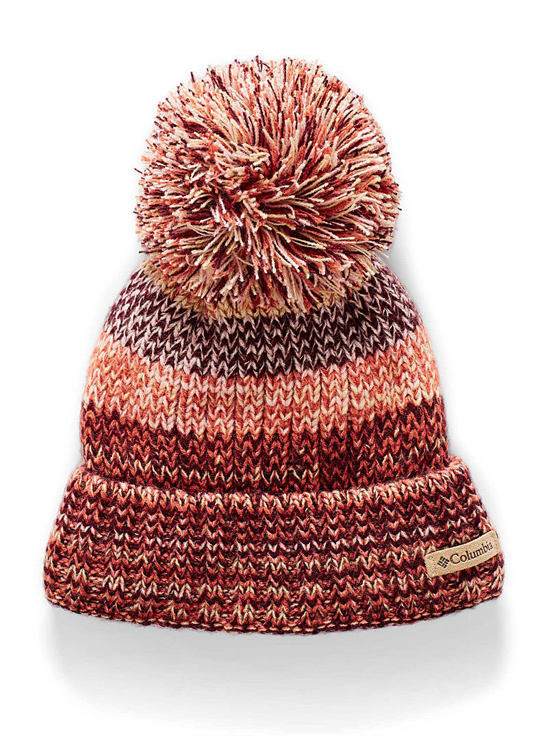 Columbia Ruby Red Oversized-pompom sherpa lining tuque for women