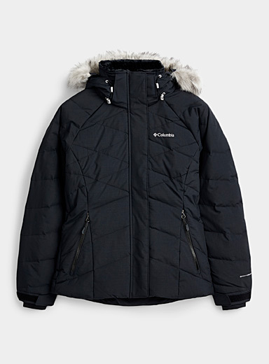 Columbia Black Lay D cocoon neck coat  Active fit for women