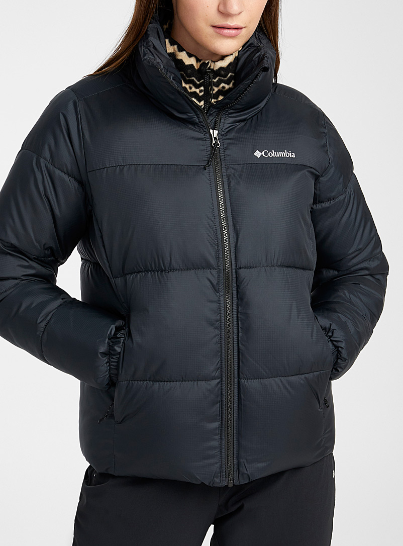 Columbia Black Puffect puffer coat  Regular fit for women