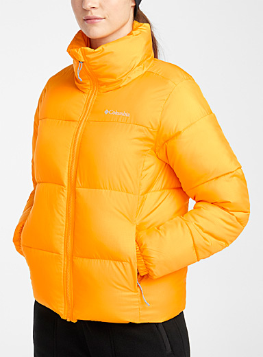 Columbia Bright Yellow Puffect puffer coat  Regular fit for women