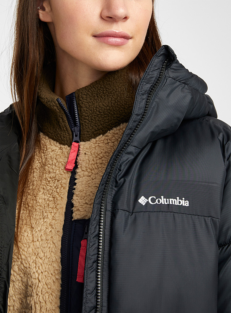 Columbia Ruby Red Puffect cocoon hood puffer coat for women