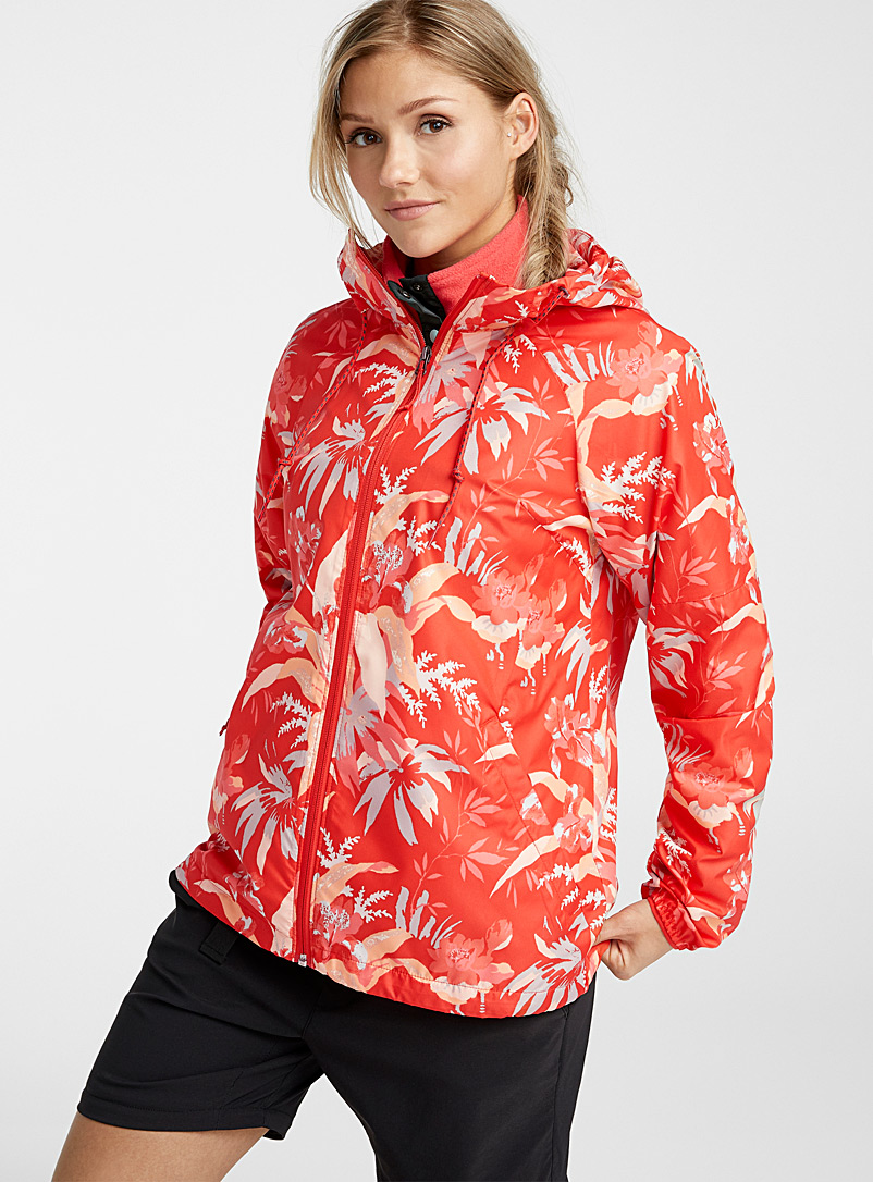 Columbia Patterned Red Side Hill print windbreaker for women