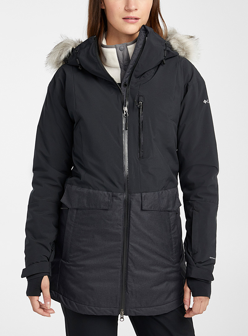 Columbia Black Mount Bindo insulated parka  Regular fit for women