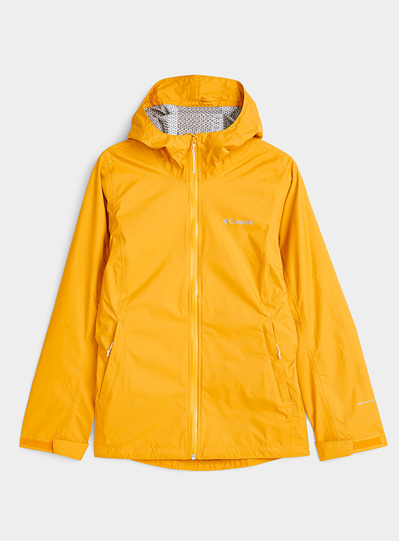 Columbia Bright Yellow EvaPOURation waterproof jacket for women