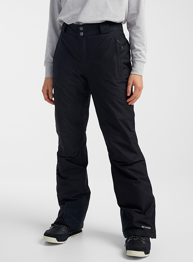 Columbia Black Bugaboo insulated snow pant Regular fit for women