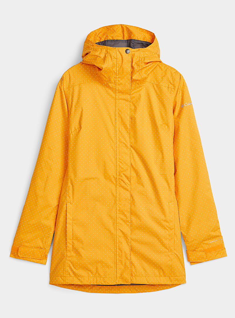 Columbia Bright Yellow Splash A Little hooded raincoat Long fit for women