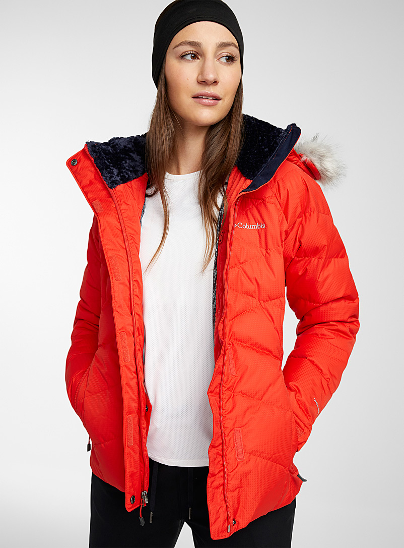 Columbia Red Lay D cocoon neck coat Active fit for women