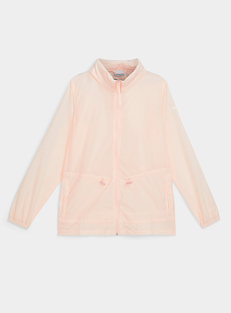 Columbia Peach Wild Willow summer windbreaker Adaptable relaxed fit for women