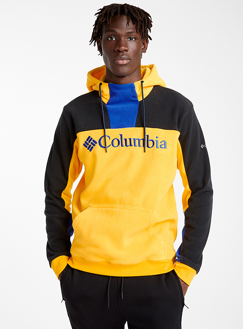 Polar fleece block hoodie - Sweatshirts & Hoodies - Golden Yellow