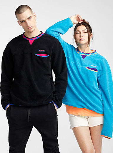 Columbia Black Wapitoo fleece sweatshirt  Black, blue and fuchsia for men