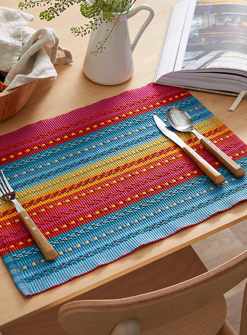 Garam masala weave placemat - Fabric - Assorted