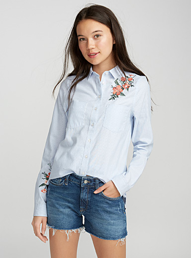 Floral oxford shirt