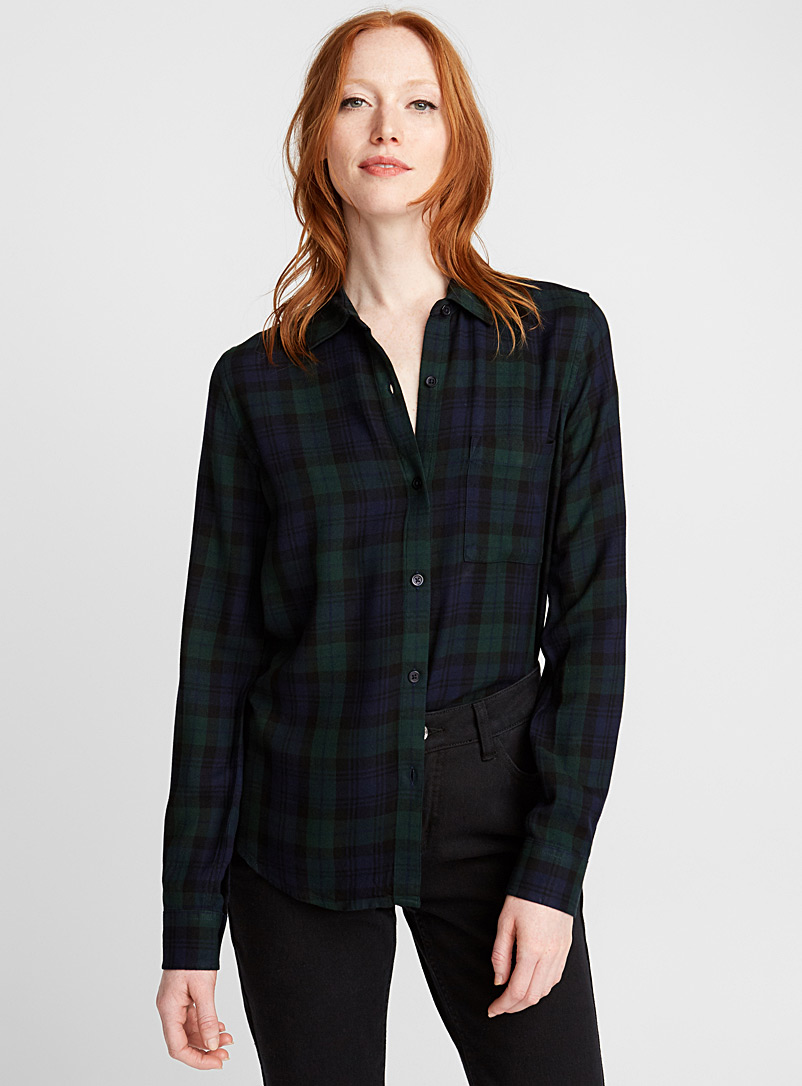 Plaid flannel shirt - Shirts - Black