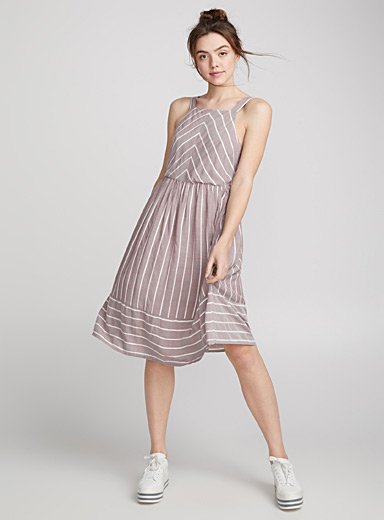 Striped viscose dress
