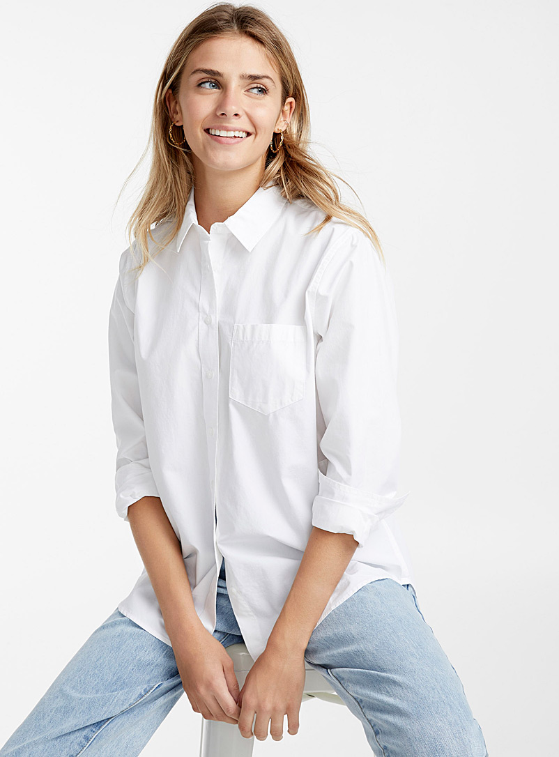 Solid loose shirt - Shirts - White
