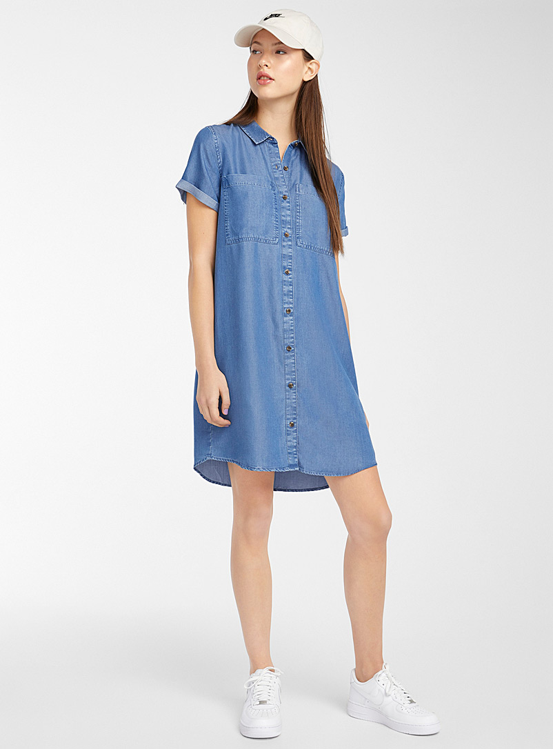 Twik Teal TENCEL* Lyocell shirtdress for women