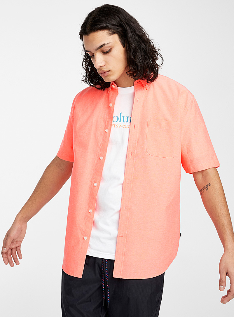 Djab Light Orange Neon Oxford shirt for men