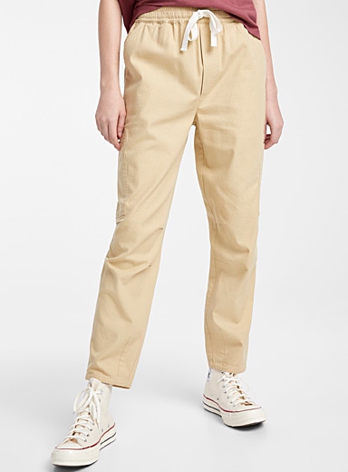 Twik Sand Organic cotton cargo joggers for women