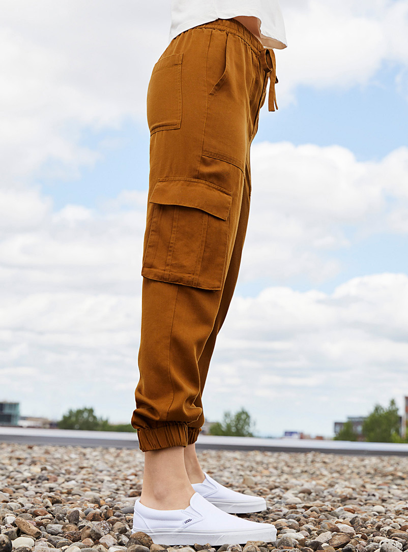 Twik Honey TENCEL* Lyocell utility joggers for women