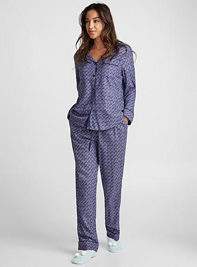 Blue sunflower pyjama set