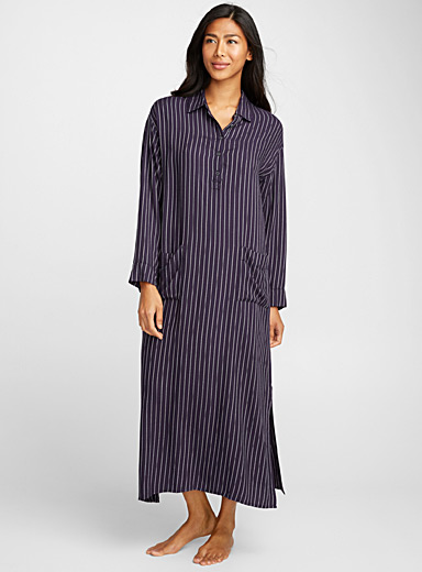 Long patterned caftan