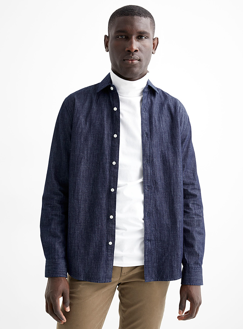 Minimalist denim shirt  Modern fit