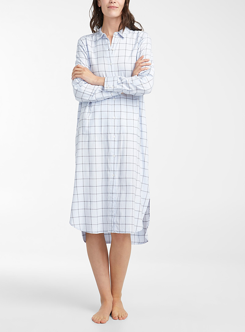 Miiyu Patterned Blue Timeless checked caftan for women