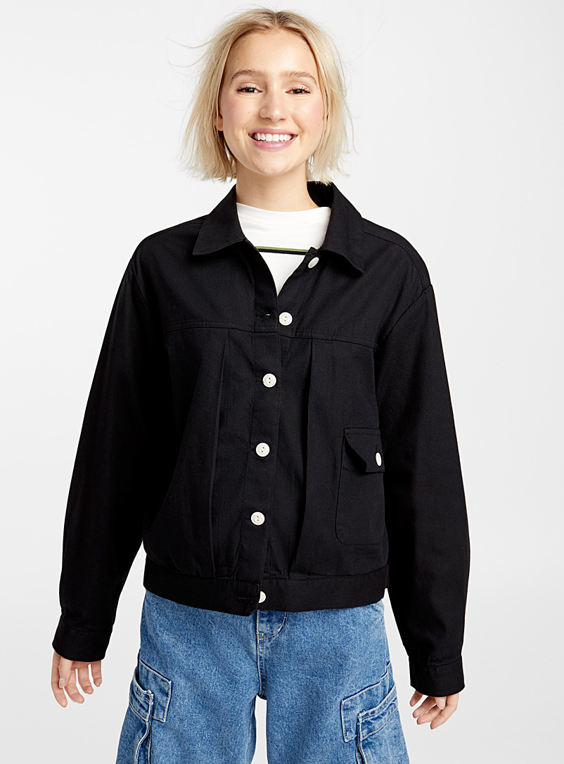 Organic cotton head gardener jacket - Jackets - Black