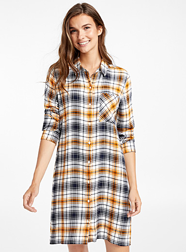 Colourful check nightshirt