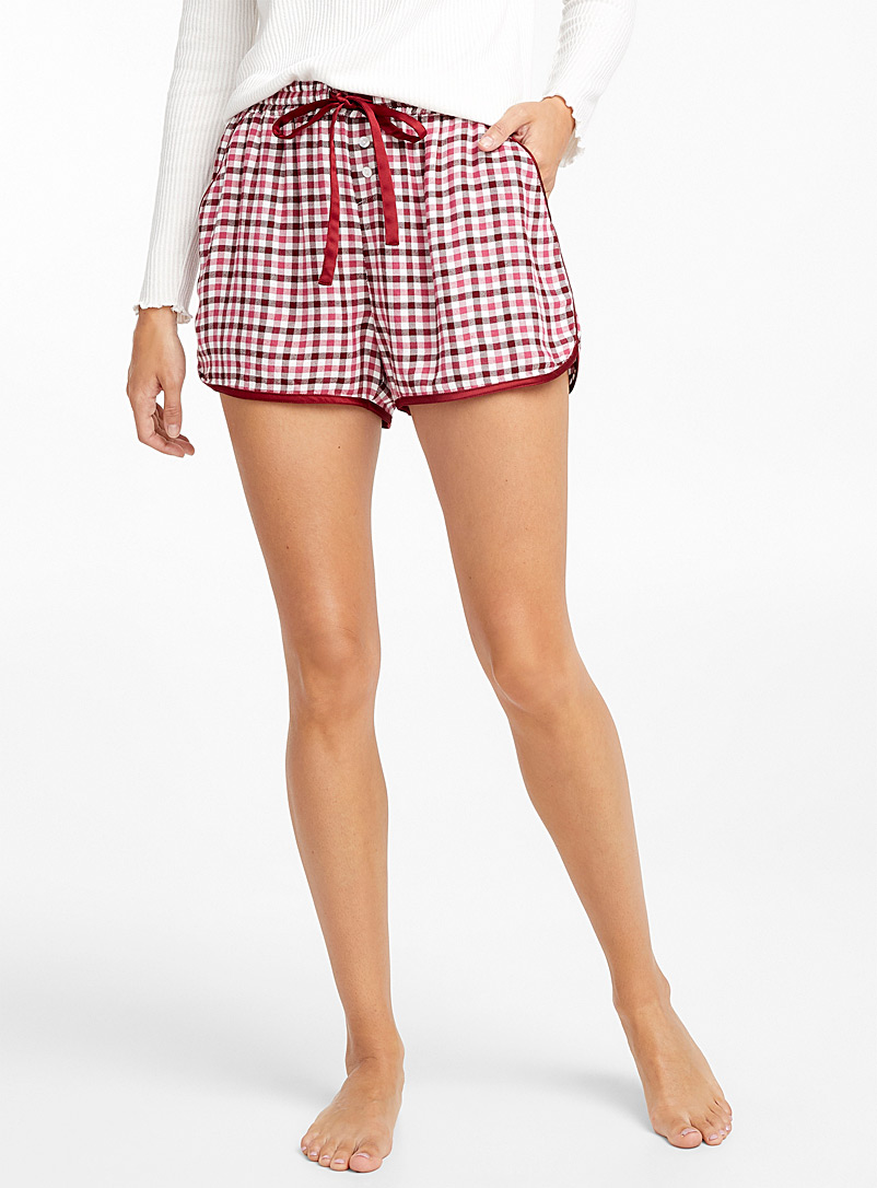 Colourful check boxer - Boxers - Pink