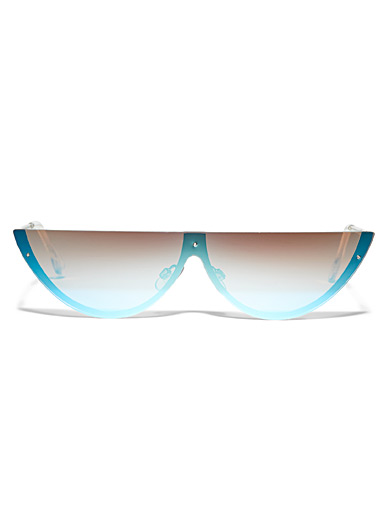 Simons Baby Blue Futuristic horizon sunglasses for women