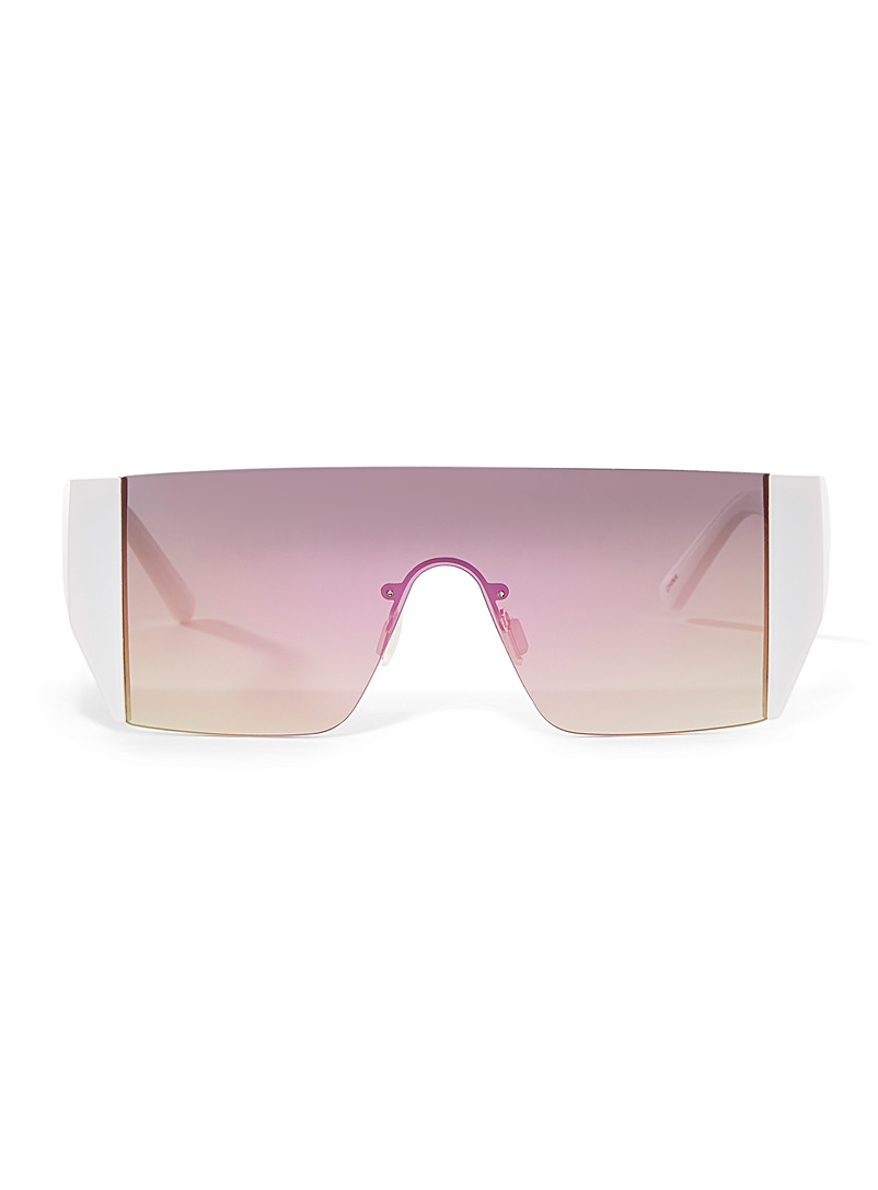 Simons White Tinted visor sunglasses for women