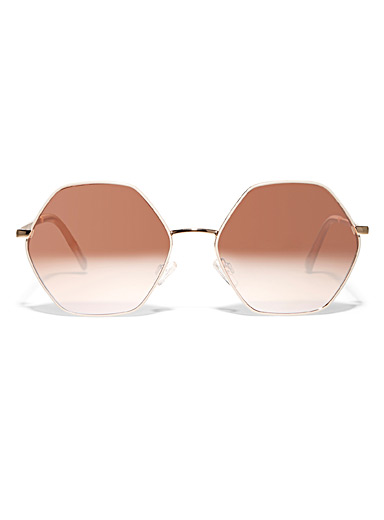 Simons Assorted Colourful hexagon sunglasses for women