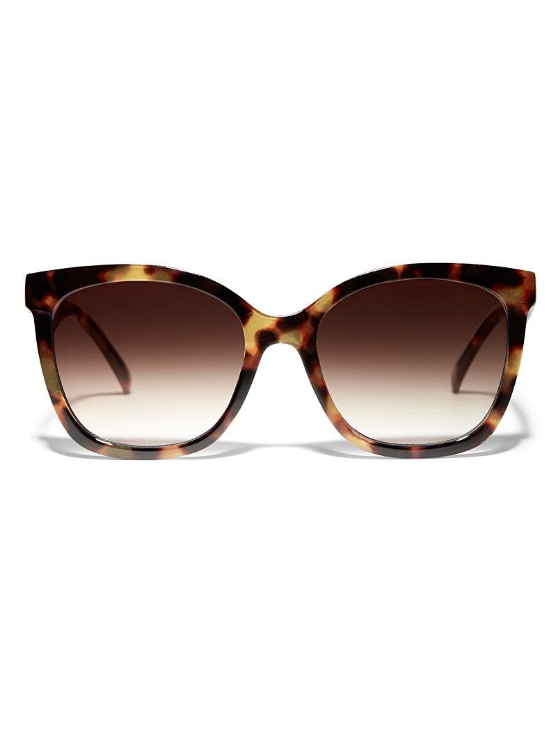 Simons Brown Square tortoiseshell sunglasses for women