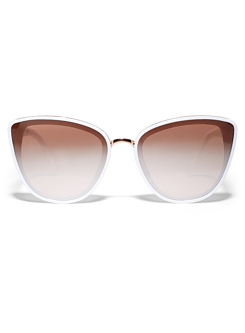 Layla cat-eye sunglasses - Less than $50 - White