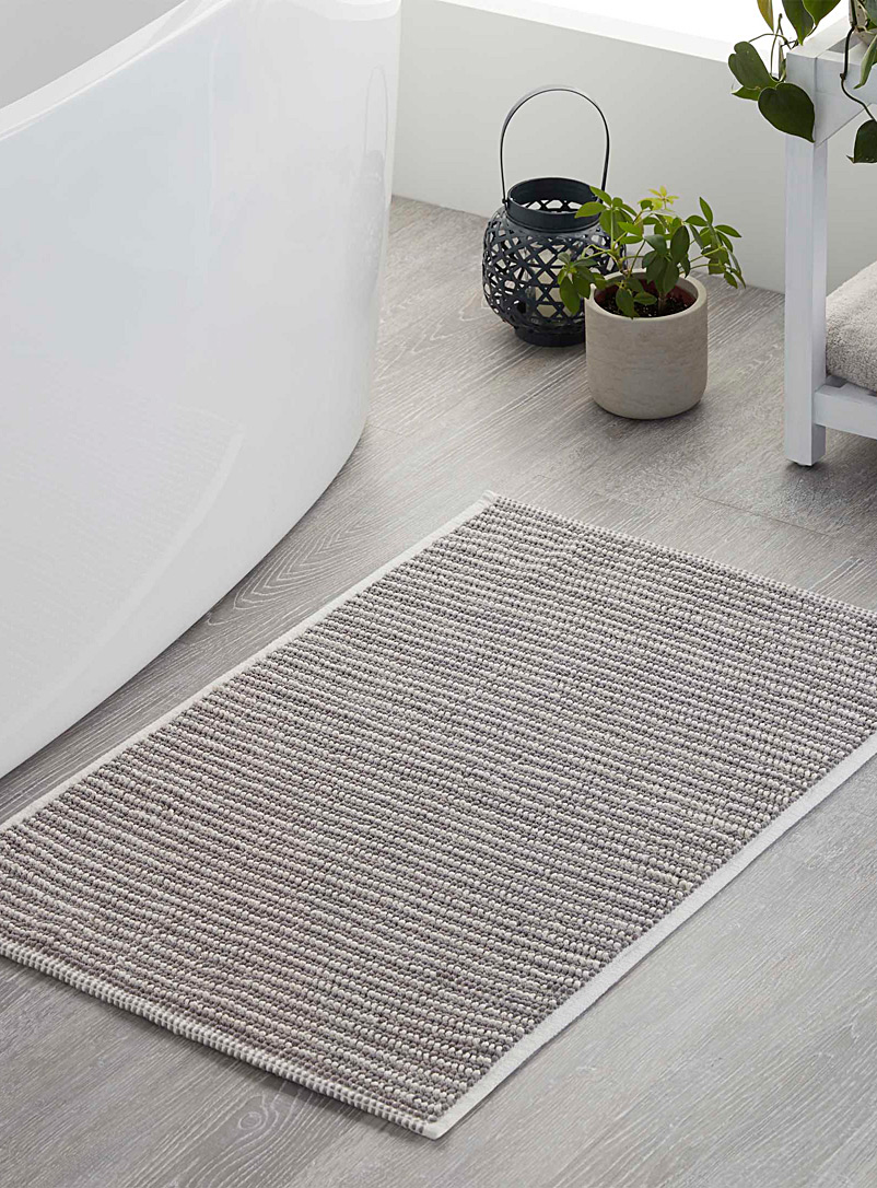 Two-tone looped bath mat  50 x 80 cm