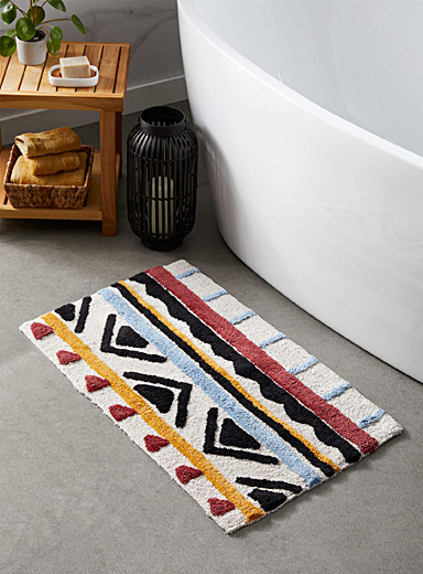 Exotic sketch bath mat  50 x 80 cm