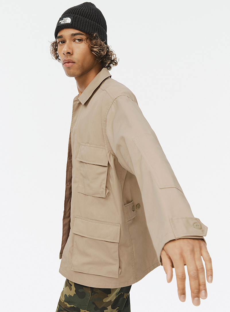 Sandy cargo overshirt