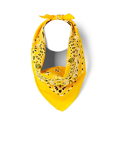 Le 31 Golden Yellow Paisley bandana for men