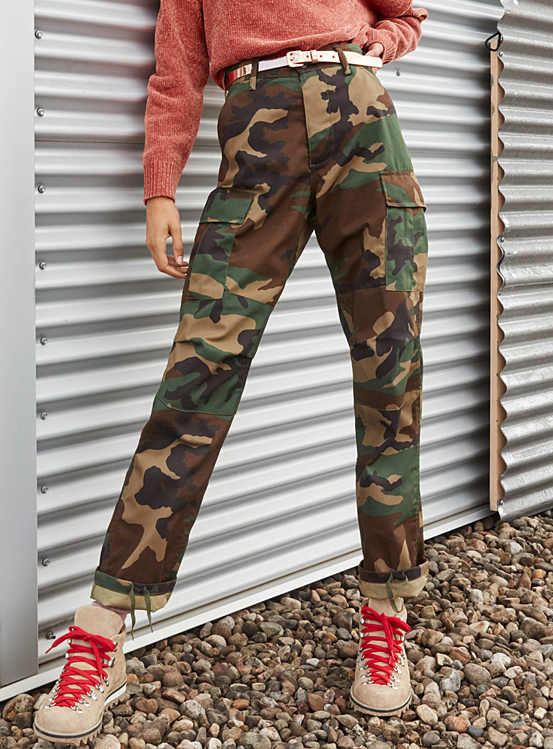 Camo cargo pant - Joggers - Patterned Green