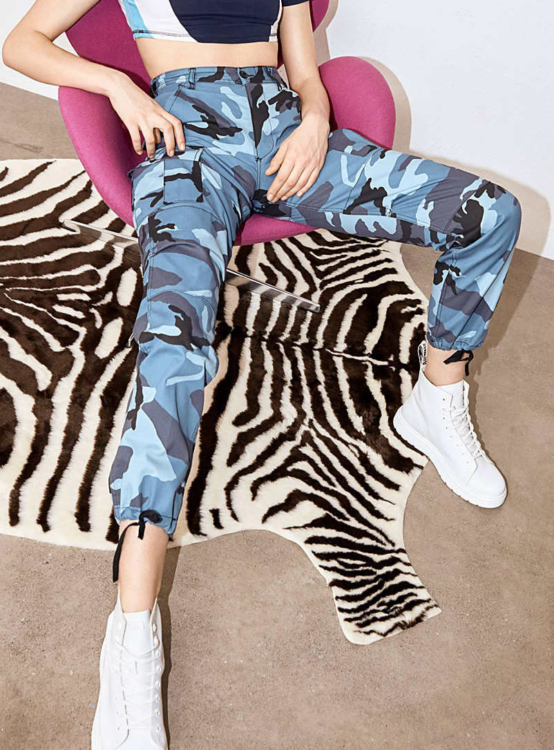 Camo cargo pant - Joggers - Patterned Blue