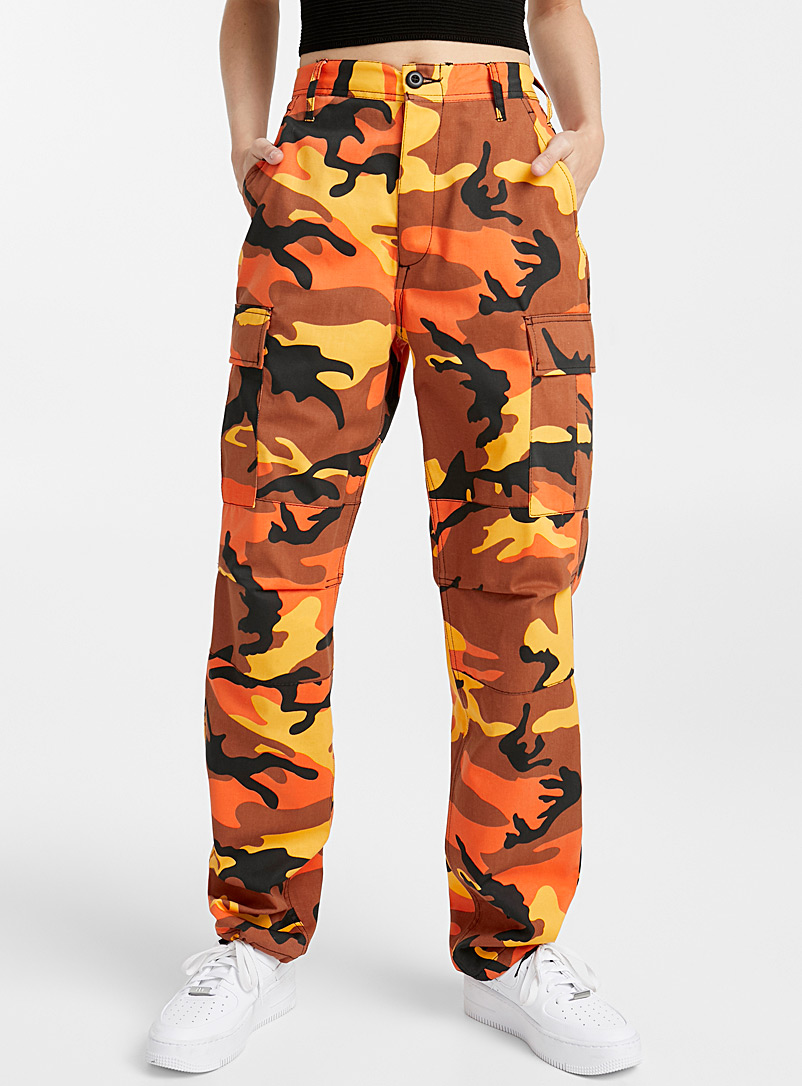 Camo cargo pant - Joggers - Patterned Orange