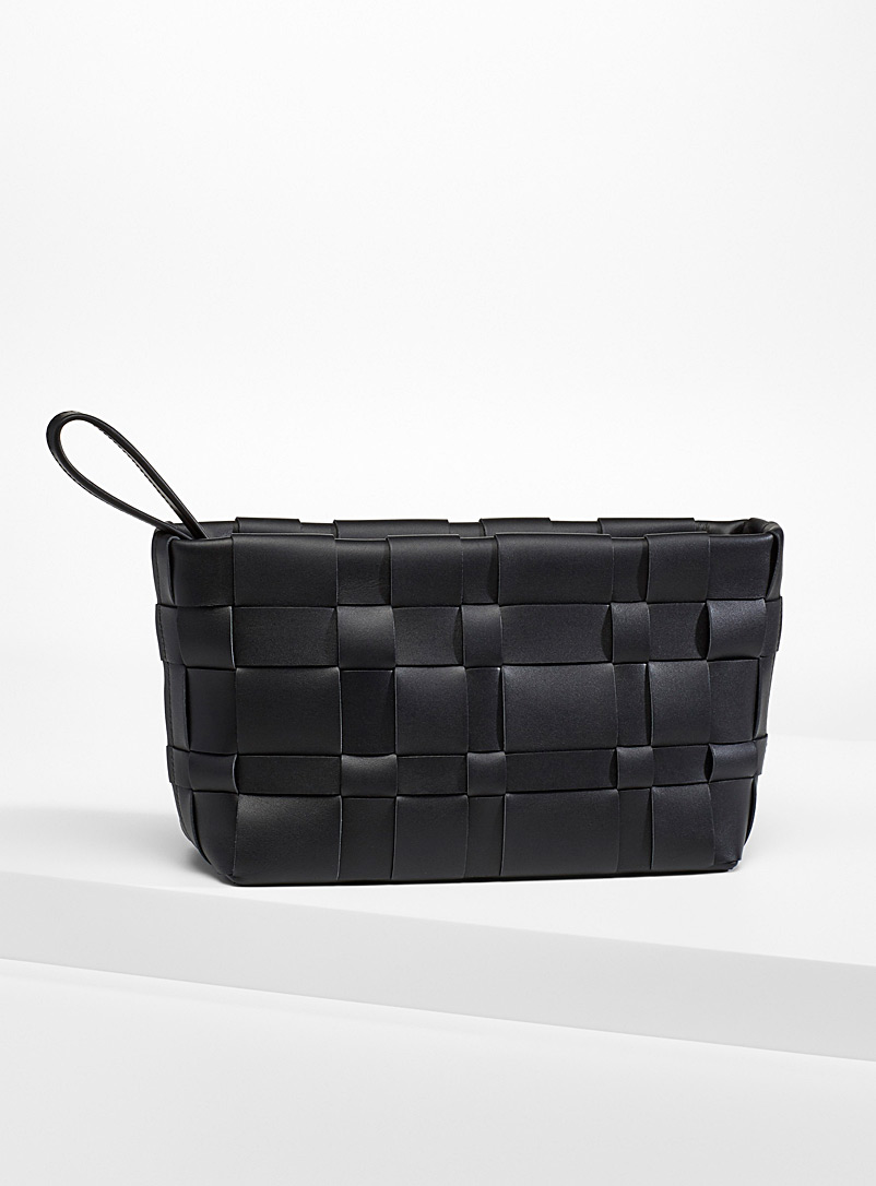 3.1 Phillip Lim Black Odita Lattice pouch for women