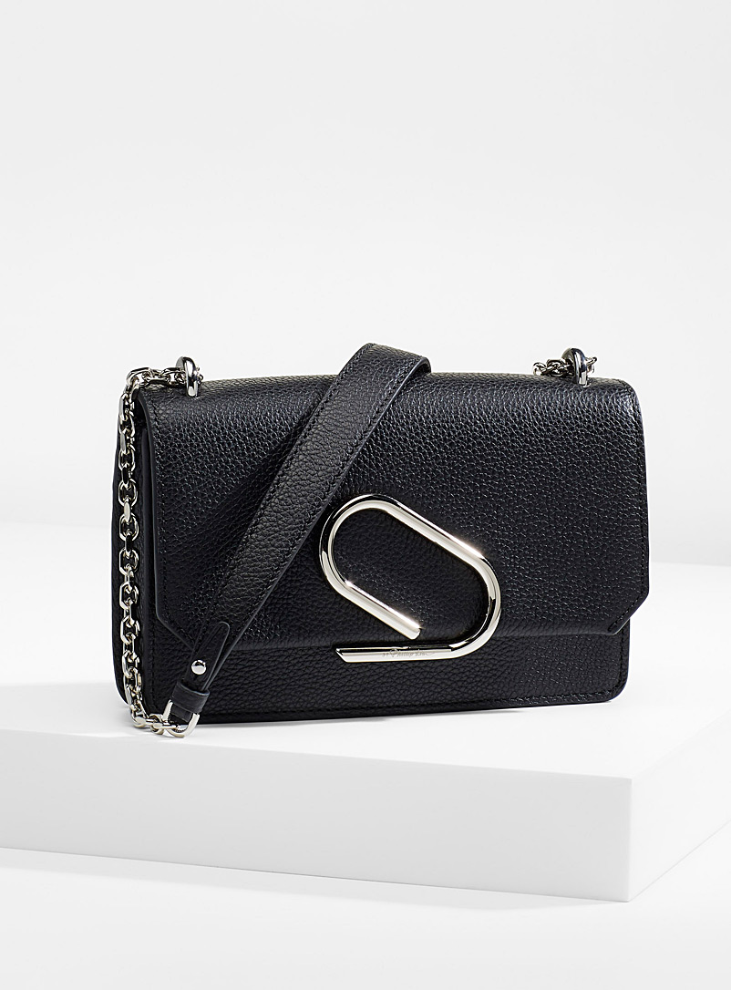 3.1 Phillip Lim Black Alix chain clutch for women