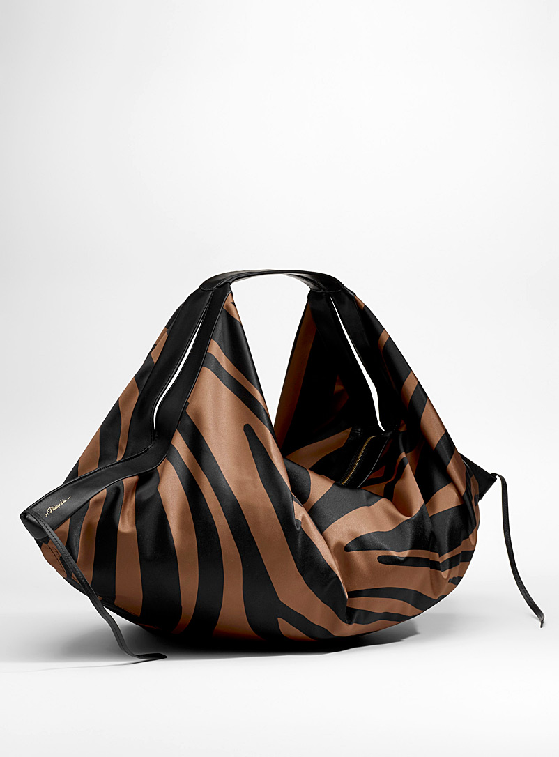 Luna large striped tote - 3.1 Phillip Lim - Patterned Black