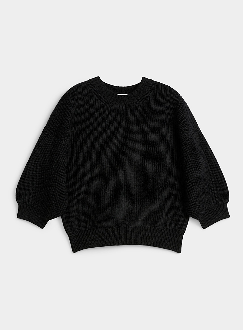 Le pull mohair manches 3/4