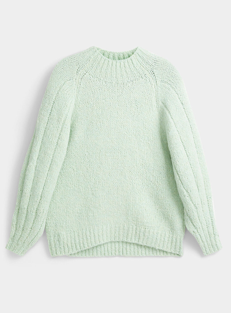 3.1 Phillip Lim Lime Green Sea green oversized sweater for women