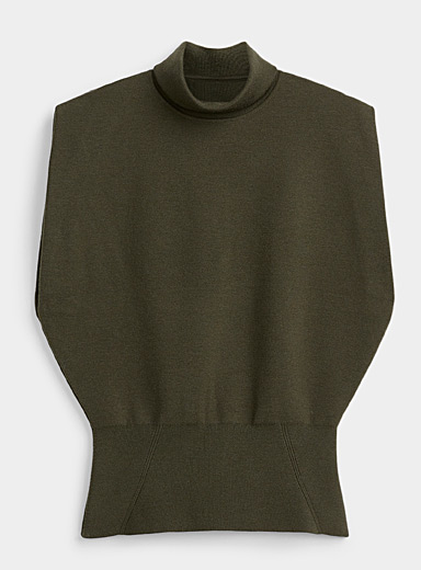 3.1 Phillip Lim Mossy Green Structured sleeveless sweater for women
